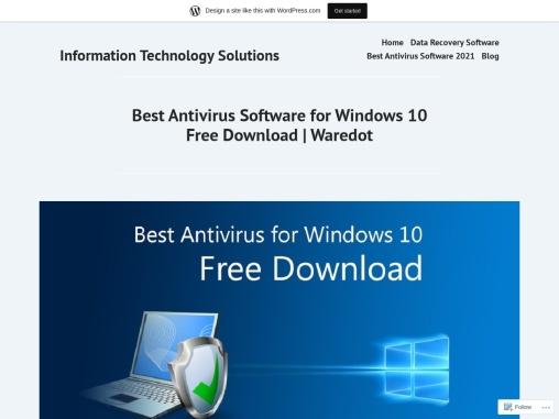 Best Antivirus Software for Windows 10 Free Download   Waredot