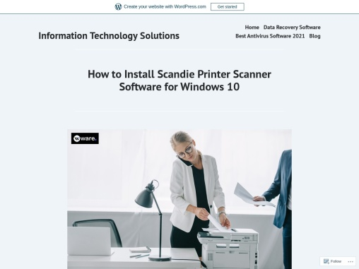 How to Install Scandie Printer Scanner Software for Windows 10