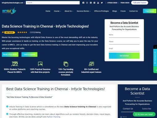 Leading Data Science Course in Chennai | Infycle Technologies