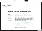 Fashion Designing Institute Pune