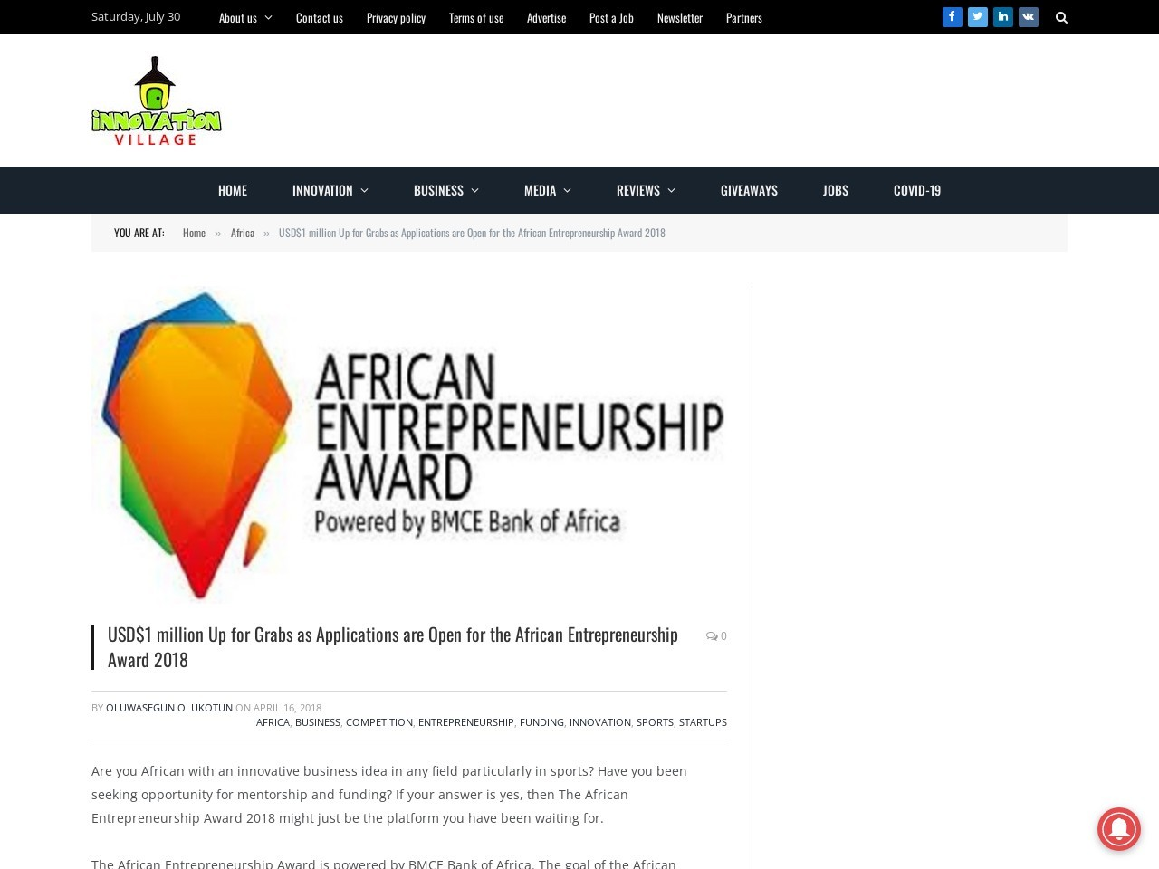 USD$1 million Up for Grabs as Applications are Open for the African…