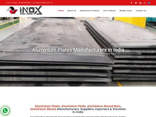 Inox india steel – aluminium plates manufacturers of india