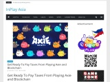 Get Ready To Pay Taxes From Playing Axie and Blockchain