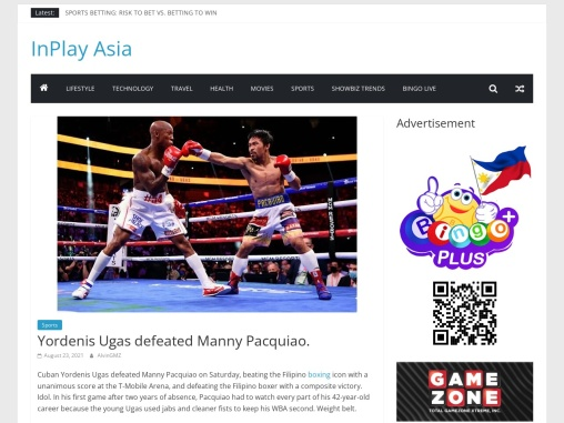 Yordenis Ugas defeated Manny Pacquiao. | Inplay Asia Sports