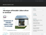 Advantages of Portable Cabins to Rent in Auckland