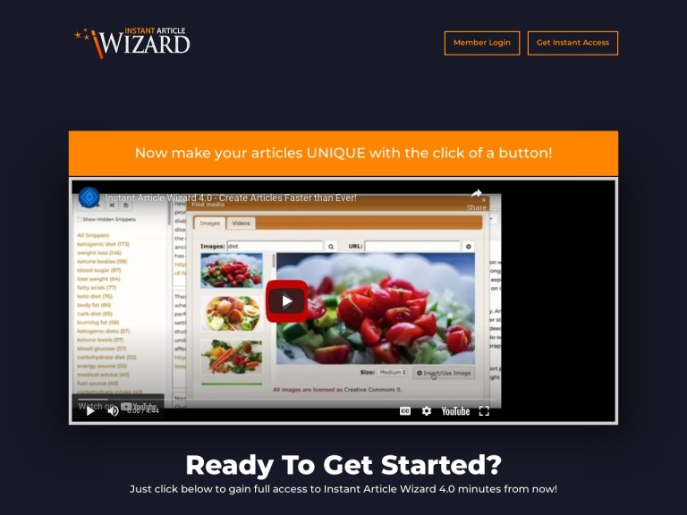 Instant Article Wizard Coupons and Discounts May 2021 screenshot