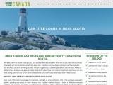 Fast and Easy Car title loans Nova Scotia