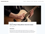 How to play F sharp minor guitar chord