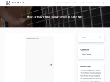 How to play F7 major guitar chord