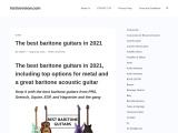 The best baritone guitars in 2021