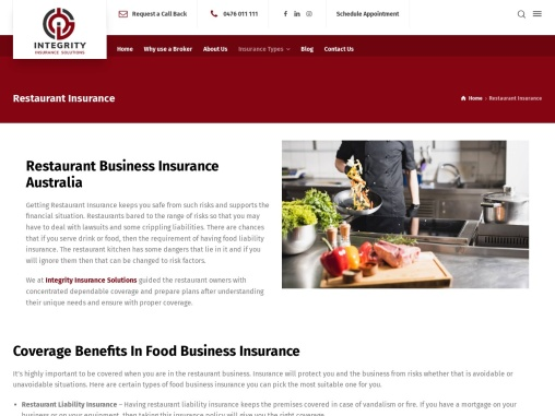 Restaurant Insurance – Restaurant Business Insurance
