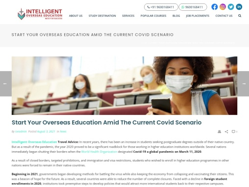 Start Your Overseas Education Amid The Current Covid Scenario