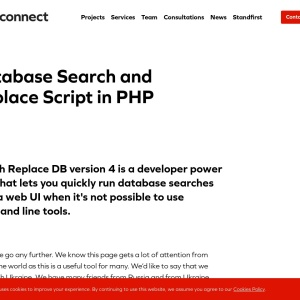 Database Search and Replace Script in PHP | interconnect/it
