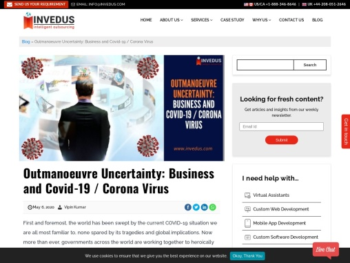 Outmaneuver Uncertainty: Business and Covid-19 / Corona Virus
