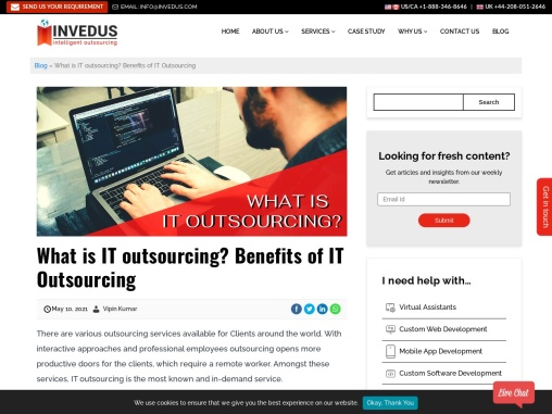 The Benefit of IT Outsourcing to India