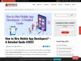 How to Hire Mobile App Developers – A Detailed Guide