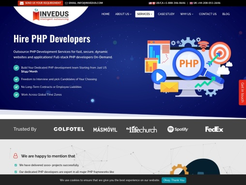 Hire Dedicated PHP Developers India | Outsource PHP Programmers