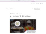Top-5 importance of ISO 45001 certification
