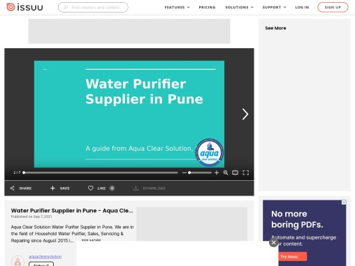 Aqua Clear Solution – Water Purifier Supplier In Pune