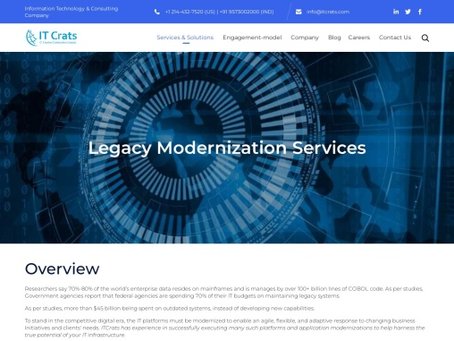 Legacy Modernization Services and Solutions