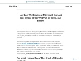 How Can We Resolved Microsoft Outlook [pii_email_e80c99419553948887a9] Error?