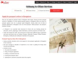 Apply for passport online in Bangalore