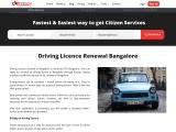 Driving Licence Renewal Bangalore