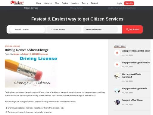 Driving License Address Change