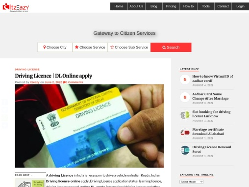Driving License Online   Iteazy