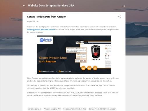 Scrape Product Data from Amazon