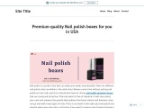 Make Your Own boxes for nail polish With printed logo in USA