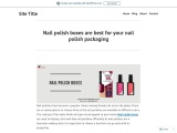 Printed Personalized Branded nail polish box in USA