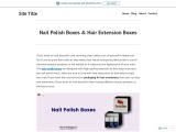 Get Hair Extension Boxes with free shipping in USA