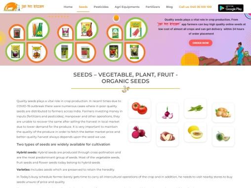 Buy Seeds Online | Plants, Vegetables & Fruit Seeds | Organic Seeds | Jai Ho Kisan