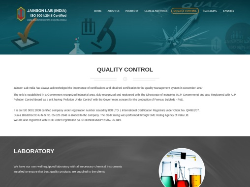 Jainson Lab India is a leading producer & supplier of chemicals and minerals
