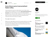 Facts of Snow Load on Commercial Roof | Naples-roofing
