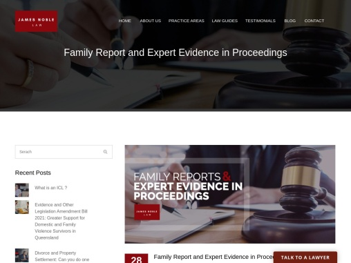 Family Report and Expert Evidence in Proceedings