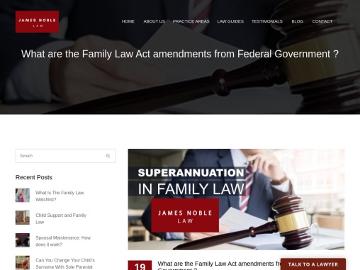 What are the Family Law Act amendments from Federal Government ?
