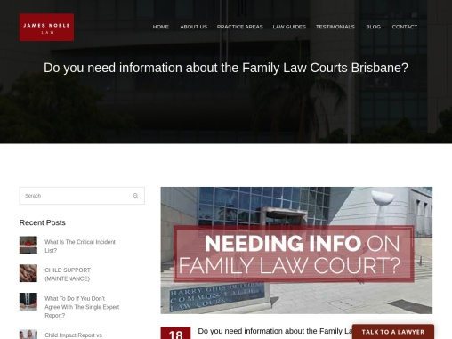 Do you need information about the Family Law Courts Brisbane?