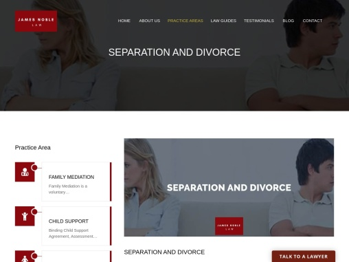 SEPARATION AND DIVORCE – James Noble Law