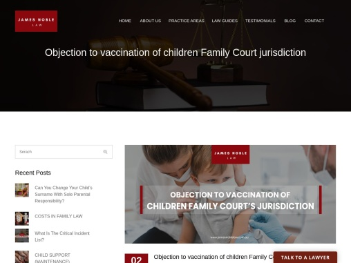 Objection to vaccination of children Family Court jurisdiction
