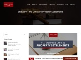 Statutory Time Limits in Property Settlements