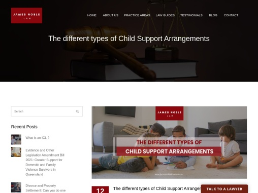 The different types of Child Support Arrangements