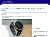 Garmin Forerunner 645 Music Review & Rating Best features, Design