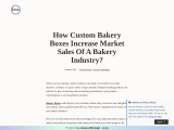 Custom Printed Bakery Boxes Packaging