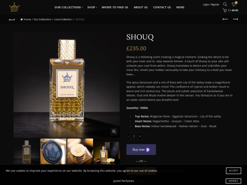 Shouq is a titillating scent creating a magical moment.