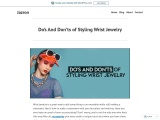 Do's And Don'ts of Styling Wrist Jewelry – Jazron