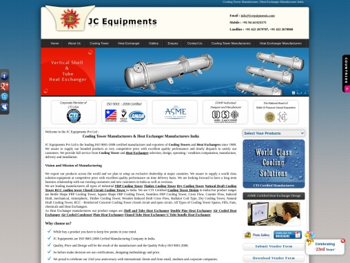 Heat Exchanger Manufacturers India – jcequipments.com