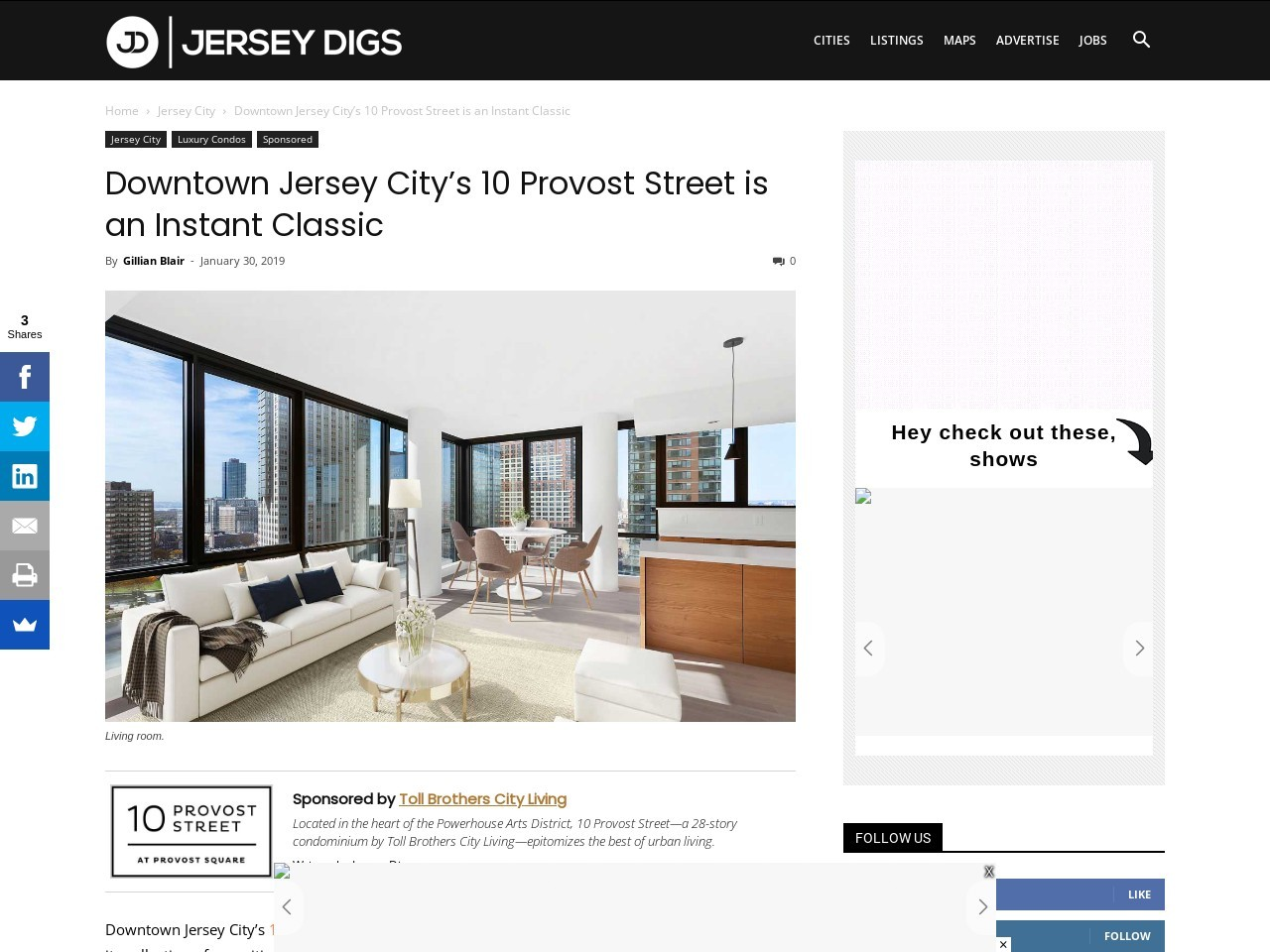 Downtown Jersey City's 10 Provost Street is an Instant Classic