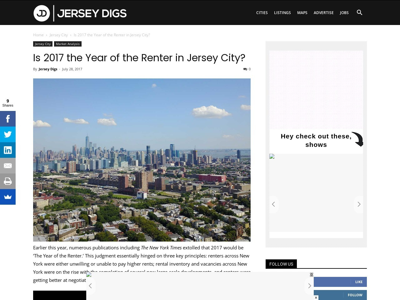 Is 2017 the Year of the Renter in Jersey City?